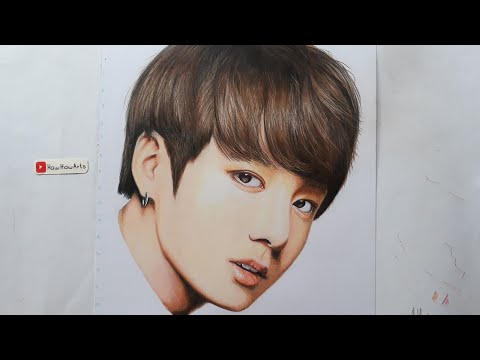 bts:-jungkook-portrait-(slower)- -colored-pencil-drawing- -realistic---by-haw-haw-arts
