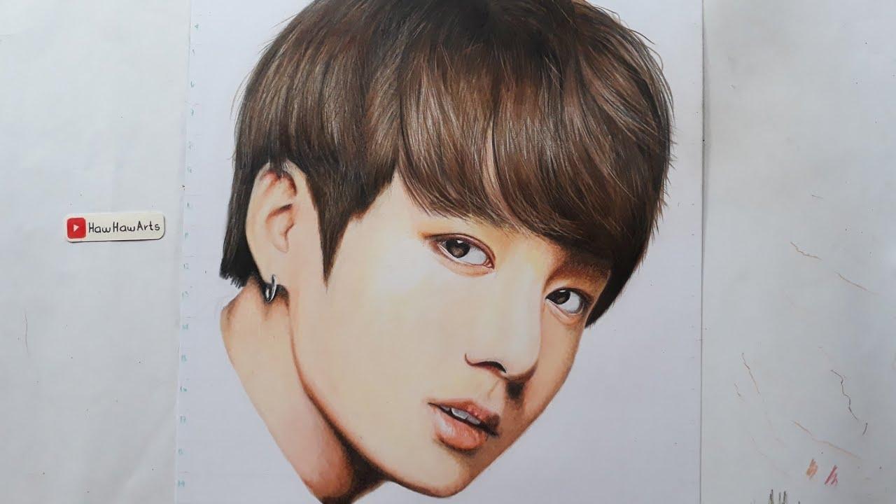 Jungkook Bts Drawings: BTS: Jungkook Portrait (SLOWER)