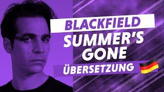 Blackfield - Summer's Gone (Deutsche Übersetzung)