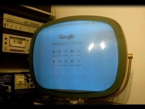 Youtube and google on a 1950's TV Philco predicta