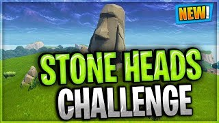 Search Where The Stone Heads Are Looking  - WEEK 6 CHALLENGES / FORTNITE BATTLE ROYALE