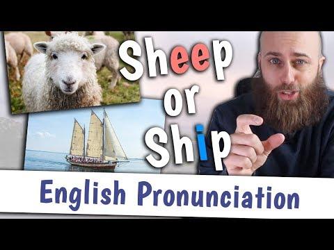 SHEEP or SHIP? | English Pronunciation of /iː/ and /ɪ/