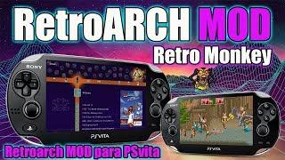Retro Monkey - Retroarch MOD PSvita 2019 - ÚNICO - por MEGA