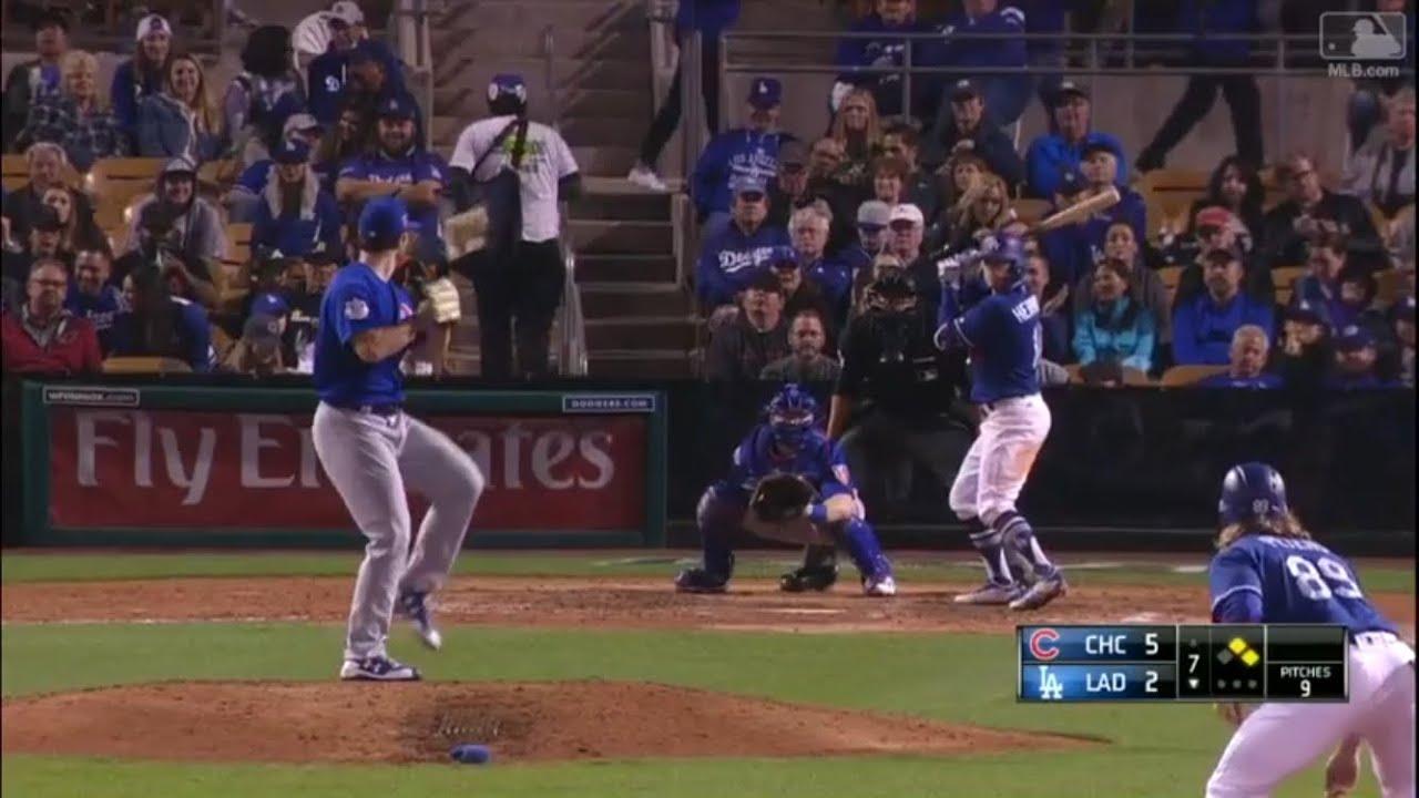 Kike Hernandez Game-Tying 3-Run Homerun vs Cubs | Dodgers ...