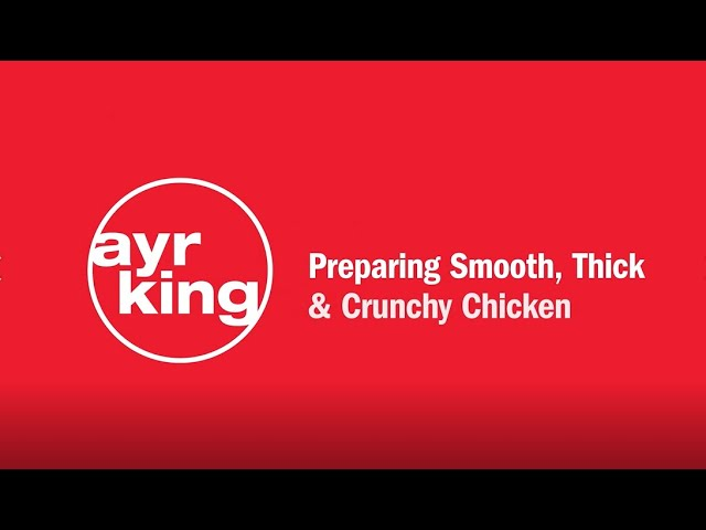 FRIED CHICKEN: Smooth, Thick & Crunchy