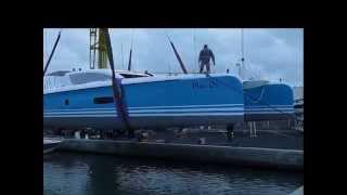 DecoAder Nautisme habille un catamaran Outremer en adhésifs MACtac