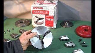 New 130mm Dia SAN OU 3 Jaw Chuck & Machining Back-Plate