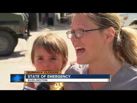 State of Emergency in Burlington after flash floods