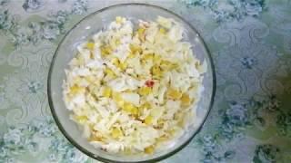 Крабовый салат с пекинской капустой.
