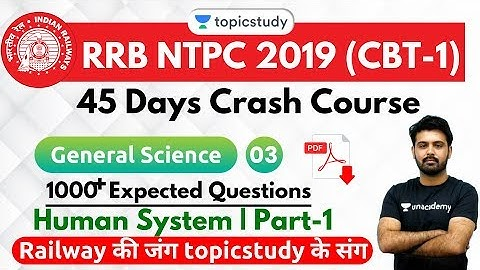 6:30 PM - RRB NTPC 2019 | GS by Aman Sir | 1000+ Expected Questions (Human System | Part-1)