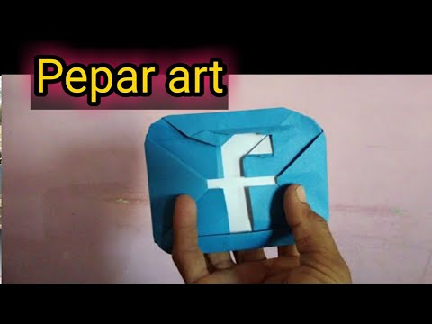 How to make origami Facebook paper logo,paper facebook logo,origami fb logo, fb paper art