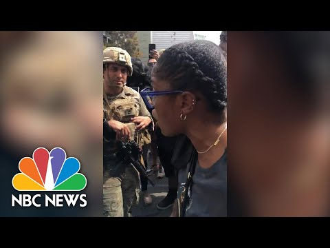 Keke Palmer Pleads: National Guardsmen 'March Beside Us..Make History With Us' | NBC News NOW