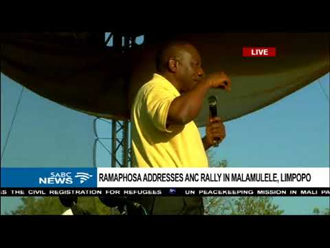Ramaphosa on a campaign trail in Malamulele