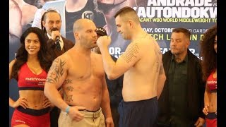 HEAVYWEIGHT CLASH! - NIALL KENNEDY v BRENDAN BARRETT - OFFICIAL WEIGH-IN FROM BOSTON