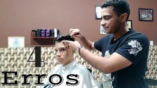 4 ERROS que barbeiro iniciantes cometem ao fazer pezinho| escola de barbeiro- Marciel miranda