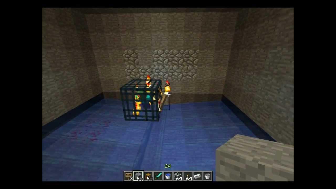 Minecraft Tutorial Trampa De Mobs Mob Spawner Xp Farm Facil De Hacer Youtube