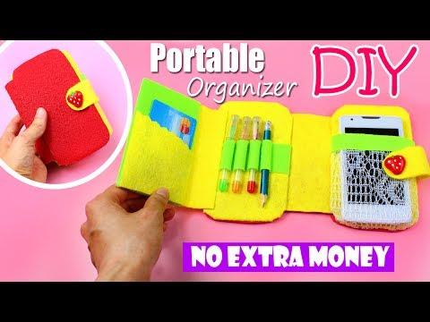 DIY ORGANIZER & PHONE CASE & PENCIL CASE | COMPACT IDEA