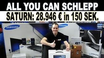 All you can schlepp | 28.946 Euro in 156 Sekunden | PR-Aktion zum 150. Saturn Opening