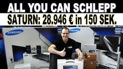 All you can schlepp | 28.946 Euro in 156 Sekunden | PR-Aktion zum 150. Saturn Opening