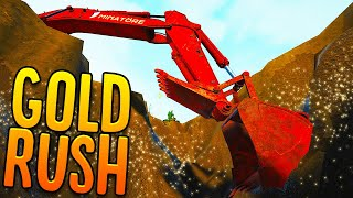 Digging Deep To Find Gold-Rich Veins - Heavy Machinery & Mobile Gold Wash Plant - Gold Rush