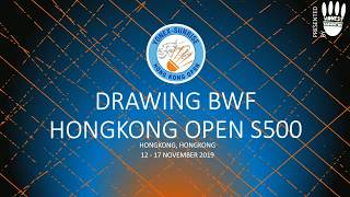 2019 FULL DRAW HONGKONG OPEN S500 | ZHENG/HUANG [1] VS FAIZAL/WIDJAJA at R1