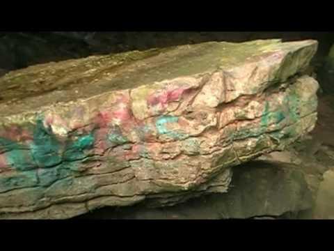 Secret Cave Entrance and Waterfall at the Piasa Bird Cave Alton Illinois