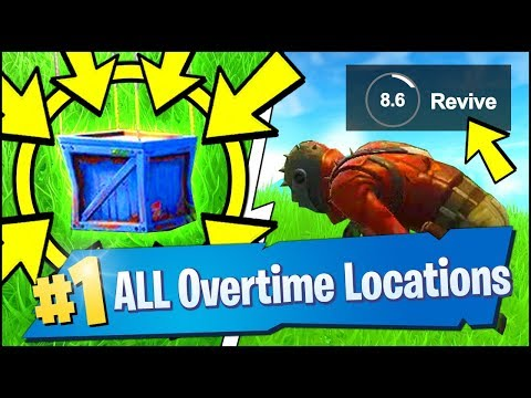 VISIT DIFFERENT NAMED LOCATIONS, SEARCH A SUPPLY DROP, REVIVE A PLAYER (Fortnite Overtime Challenges