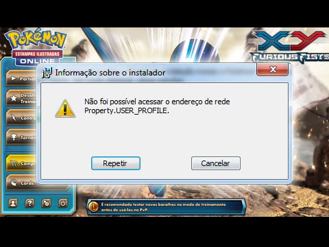 5º Pokémon TCG Online: Como Resolver o Propery USER Profile ERROR