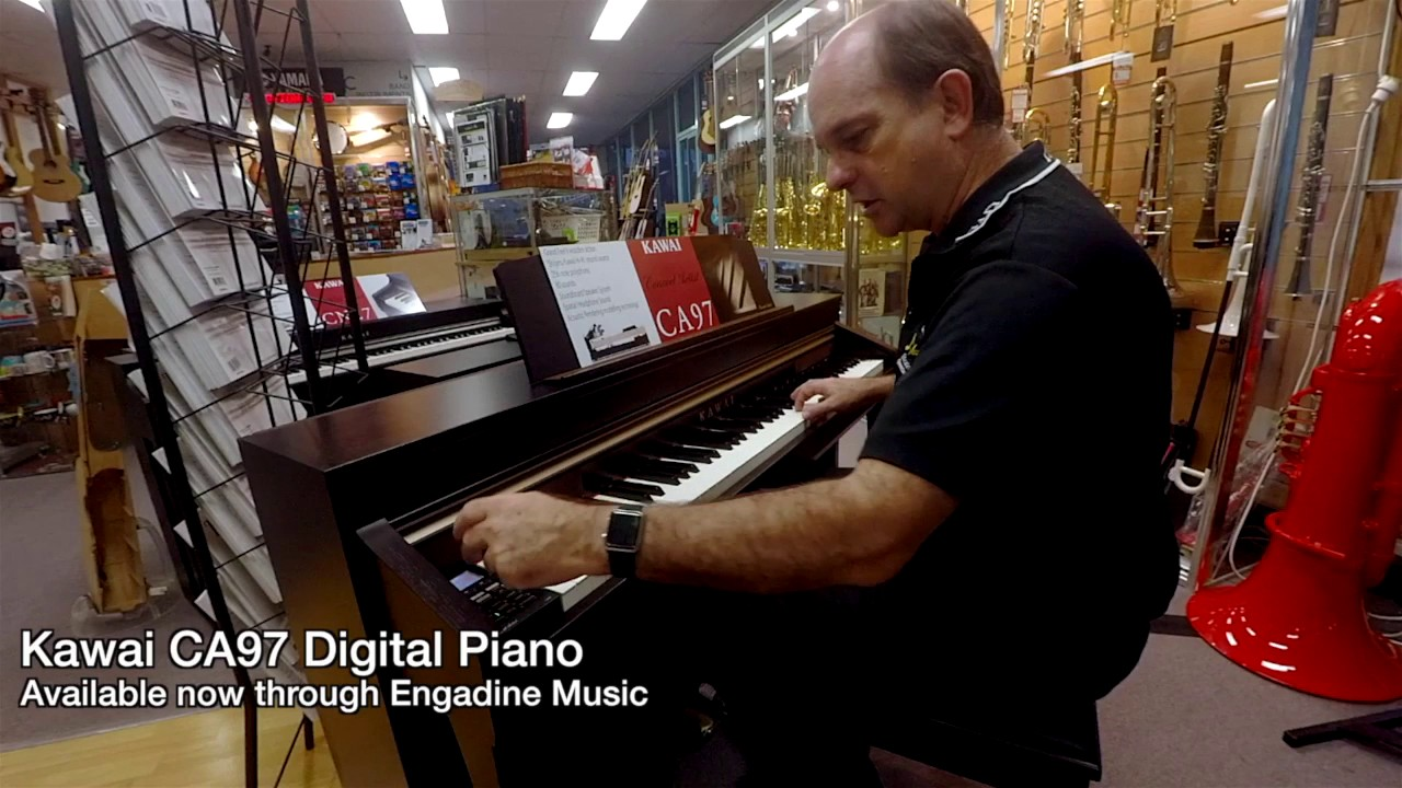 kawai ca97 digital piano review engadine music youtube. Black Bedroom Furniture Sets. Home Design Ideas
