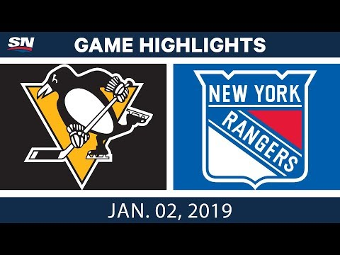 NHL Highlights   Penguins vs. Rangers - Jan. 2, 2019