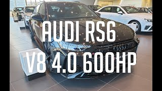 2021 - Audi RS6 V8 4.0 TFSI 600HP Quattro Tiptronic Black Mythic 👑😍