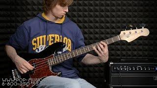 Дешева бас-гітара ASHTONE AB-11. Демонстрація соло і в міксі