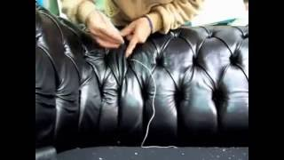 Обивка дивана Честер(Больше на сайте http://mebelprof.com.ua/divan_chester_obivka/ Технология обивки мягкой мебели,капитоне,каретная утяжка., 2015-02-16T18:55:34.000Z)