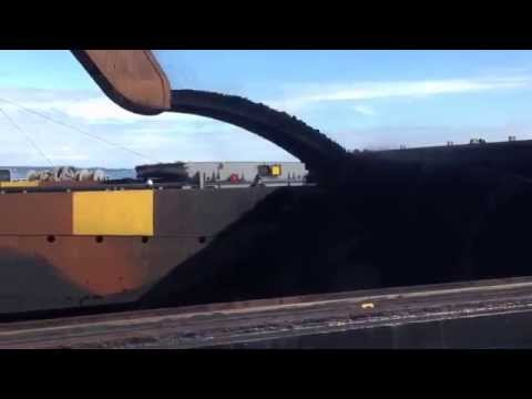 Loading Coal On A Cape Class Ship At Westshore Terminals