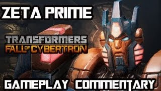 transformers fall of cybertron zeta prime multiplayer gameplay armor set w commentary