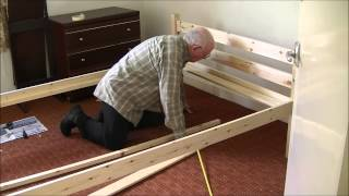 Assemble pine wood bed frame (3)