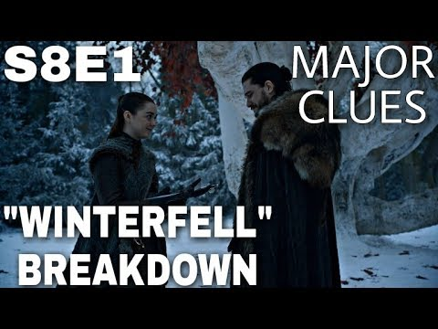 "S8E1 ""Winterfell"" Breakdown - Game of Thrones Season 8 Episode 1 (The Final Season)"