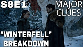 "S8E1 ""Winterfell\"" Breakdown - Game of Thrones Season 8 Episode 1 (The Final Season)"