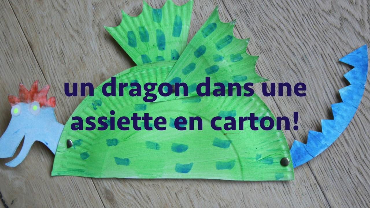 comment fabriquer un dragon dans une assiette en carton youtube. Black Bedroom Furniture Sets. Home Design Ideas