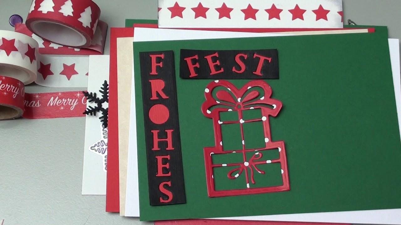 diy weihnachtskarten ideen frohes fest stanzen washi. Black Bedroom Furniture Sets. Home Design Ideas