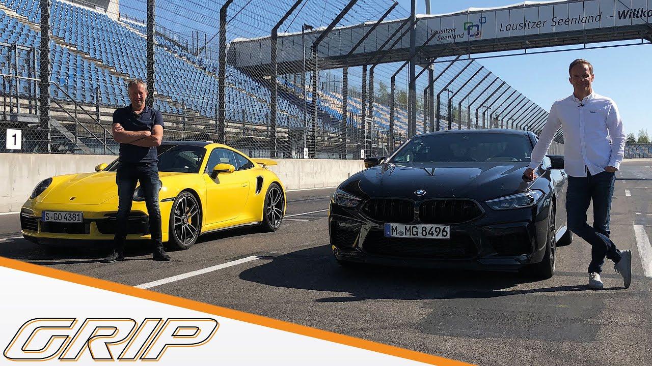 Sportwagenduell   Porsche 911 Turbo S gegen BMW M8 Competition   GRIP