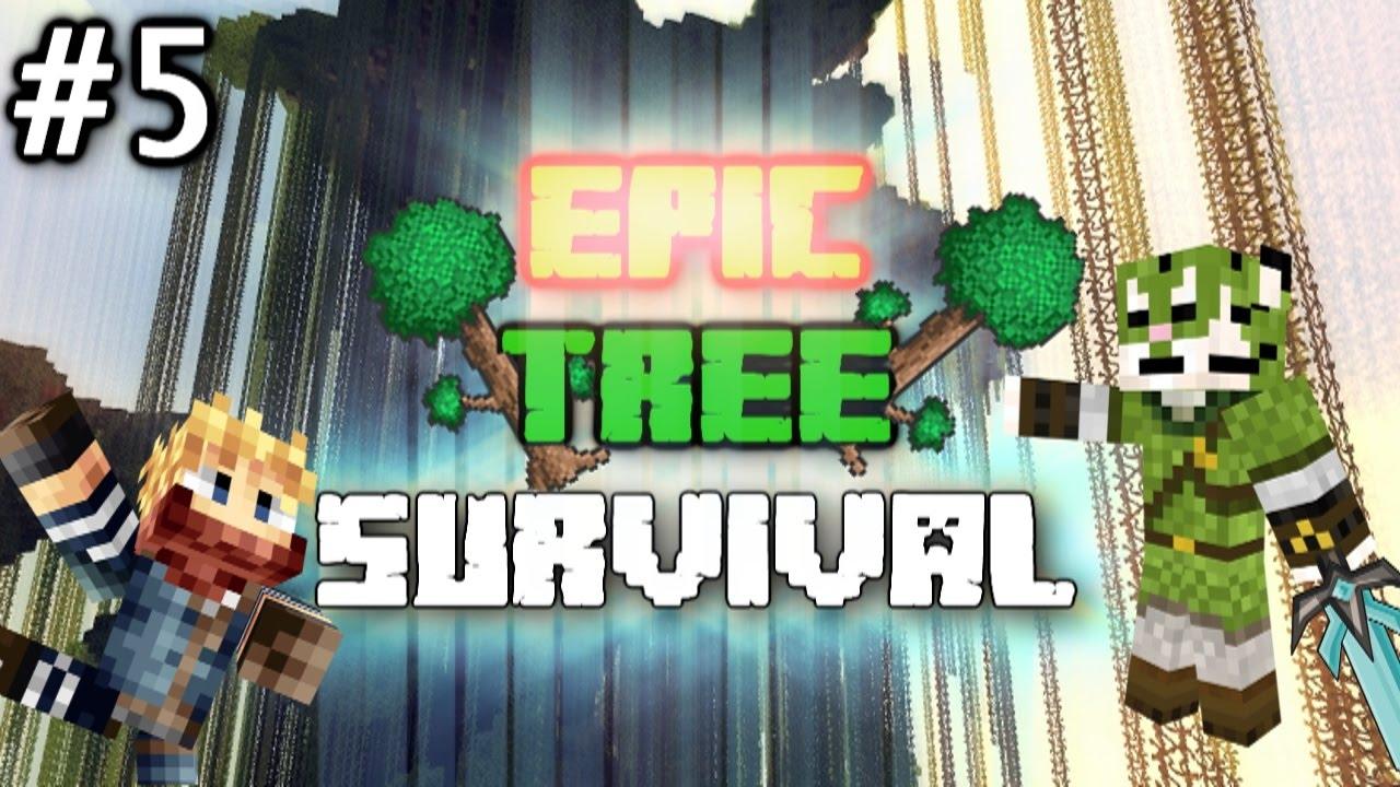 Epic Tree Survival Minecraft EEN GEHEIME KAMER Episode - Minecraft geheime hauser