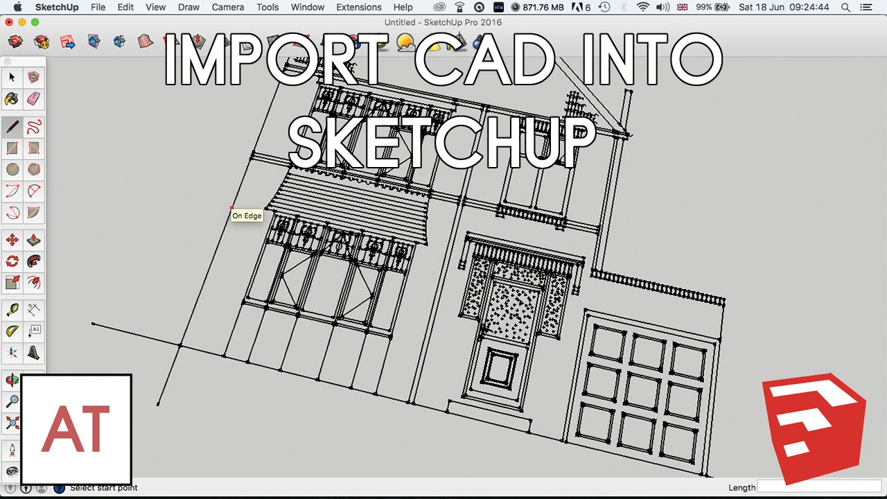 Import Cad Dwg Dxf Into Sketchup Youtube