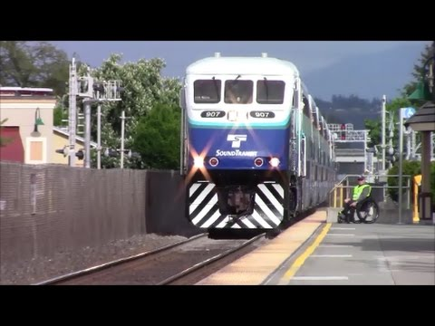 Sounder Commuter Train Puyallup, WA