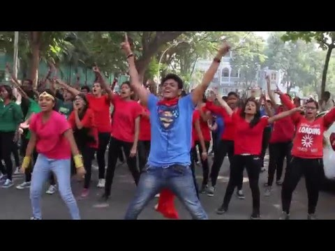 Dimensions Flashmob and Mascot Launch 2015