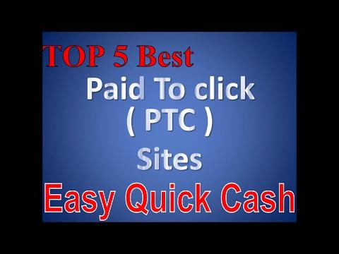 Top 5 best PTC sites – Easy quick cash