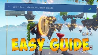 How To Collect Coins in Featured Creative Islands in Fortnite to get FREE BATTLE PASS! (EASY GUIDE)