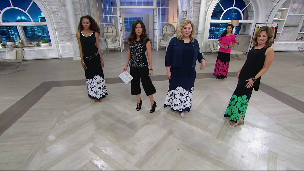 f4129a983 Susan Graver Printed Liquid Knit Maxi Skirt on QVC - YouTube