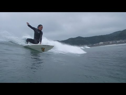 Malibu Point Katsuura,Chiba,Japan, Typhoon Swell, Water Session  2015