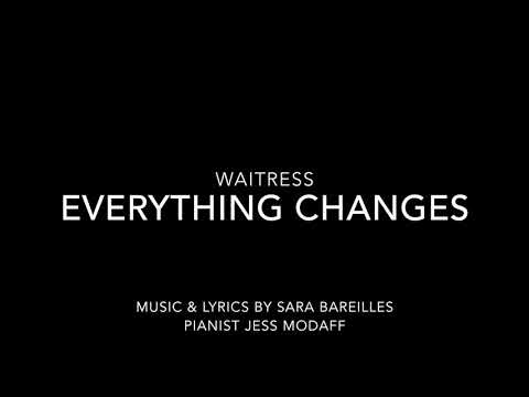 Everything Changes from Waitress - Piano Accompaniment